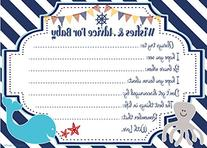 Nautical Wishes and Advice for Baby Cards - Baby Shower