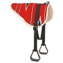 Tough 1 Adult Navajo Bareback Pad, Red/Black