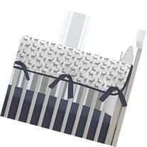 Carousel Designs Navy and Gray Deer Crib Rail Cover