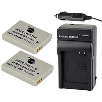 DSTE® 2pcs NB-5L Replacement Li-ion Battery + Charger DC22