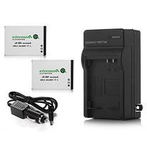 Powerextra 2 Pack Replacement Canon NB-5L Battery 1500mAh