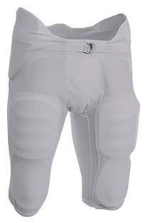 A4 NB6180 Youth Flyless Integrated Football Pant - Silver,