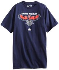 adidas Atlanta Hawks Navy Blue Primary Logo T-shirt Medium