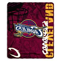 NBA Cleveland Cavaliers Hard Knocks Printed Fleece Throw, 50