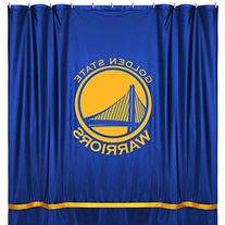 NBA Golden State Warriors Shower Curtain, 72 x 72, Bright