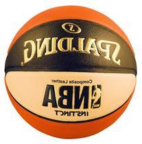 Spalding Men's NBA Instinct Basketball, Orange/Black/Oatmeal