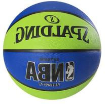 Spalding NBA Varsity Outdoor Rubber Basketball - Green/Blue