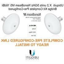 Ubiquiti NBE-M5-16 X 2 units 5GHz NanoBeam M5 16dBi Kit