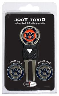 NCAA Auburn Tigers 3 Marker Signature Golf Divot Tool Pack