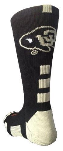 TCK NCAA Colorado Buffs Baseline Crew Socks