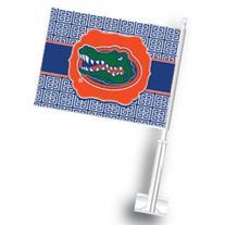 NCAA Florida Gators Car Flag Set of 2 Greek Key