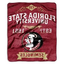 NCAA Florida State Seminoles College Label Raschel Throw, 50