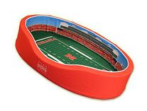 NCAA Football Dog Bed, Nebraska, Medium - 20 x 30