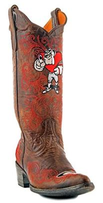 NCAA Georgia Bulldogs Women's 13-Inch Gameday Boots, Brass,