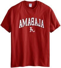 NCAA Alabama Crimson Tide Gildan T-Shirt, X-Large, Crimson
