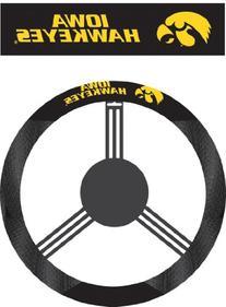 NCAA Iowa Hawkeyes Polysuede Steering Wheel Cover