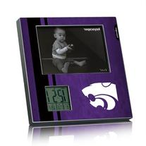 Kansas State Wildcats Picture Frame & Desk Clock Licensed by