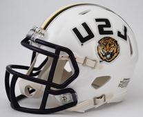 NCAA Louisiana State  Fighting Tigers White Speed Mini