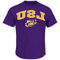 NCAA Louisiana State University Men's Arch Mascot Tee, Dark