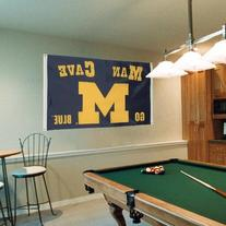NCAA Michigan Wolverines Man Cave Flag with 4 Grommets, 3 x