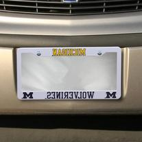 NCAA Michigan Wolverines Plastic License Plate Frame - White