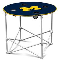 NCAA Michigan Wolverines Round Tailgating Table