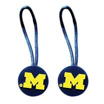 NCAA Michigan Wolverines Sports Zipper Pull Charm Rubber Tag