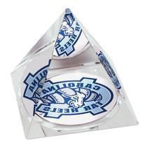 """NCAA North Carolina University Tarheels logo in 2"""" Crystal"""