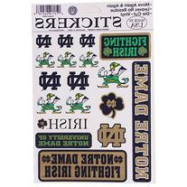 Notre Dame Fighting Irish Vinyl Cling Stickers 18 Removeable