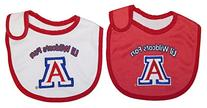 NCAA Officially Licensed 2 Pack Team Color Baby Bib