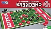 NCAA Ohio State Buckeyes Checkers, Gray, Small