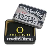 NCAA Oregon Ducks Embroidered Genuine Leather Trifold Wallet