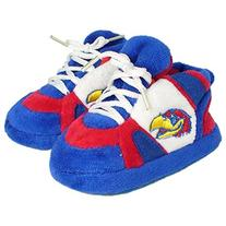 Comfy Feet NCAA Baby Slippers - Kansas Jayhawks