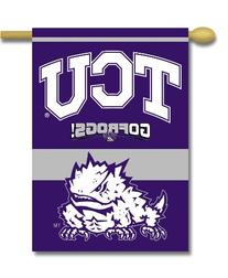 NCAA TCU Horned Frogs 2-Sided 28-by-40 inch House Banner