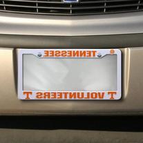 NCAA Tennessee Volunteers Plastic License Plate Frame -