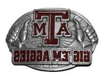 NCAA Texas A&M Aggies Belt Buckle, Silver