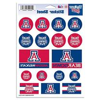 "NCAA University of Arizona Vinyl Sticker Sheet, 5"" x 7"