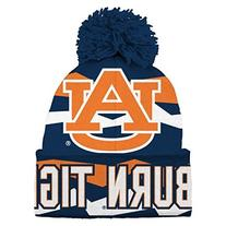 NCAA Youth Boys 8-20 Auburn Tigers Cuffed Knit w/Pom Hat, 1S