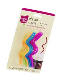 Cake Mate Neon Crazy Curl Birthday Candles 12CT