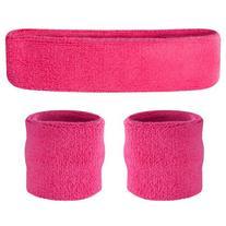 Suddora Neon Pink Headband / Wristband Set - Sports