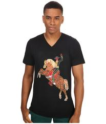 Life is Beautiful - Neon Horse - V-Neck Tee  T Shirt