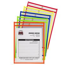 C-Line Neon Stitched Shop Ticket Holders, Assorted Neon