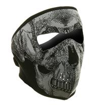Neoprene Full Face Mask - Black White Skull