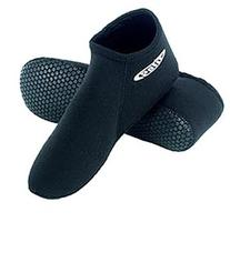 3mm Tilos Short Neoprene Pull on Socks with Traction Sole