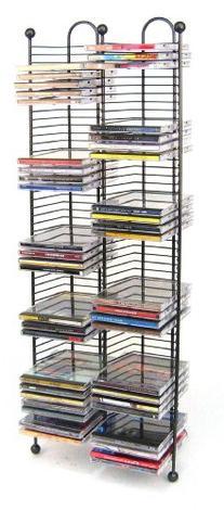 Atlantic Nestable 100 CD Tower - Holds 100 CDs, Efficient