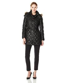 Marc New York Faux-Fur-Hood Quilted Down Coat