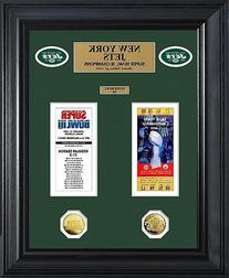 New York Jets Super Bowl Ticket and Game Coin Collection