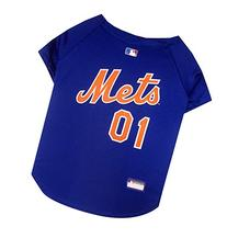 New York Mets MLB Pets First Dog Jersey Blue Size Small