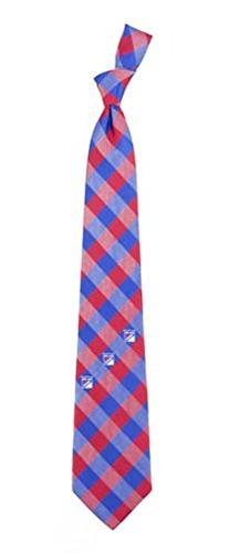 New York Rangers Check Polyester Neck Tie NHL Hockey Team