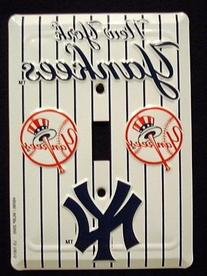 New York Yankees MBL Aluminum Novelty Single Light Switch